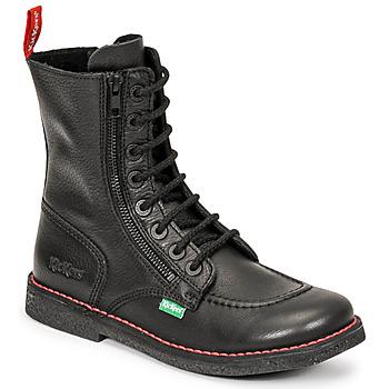 Shoes Women High boots Kickers MEETICKZIP Black / Matt