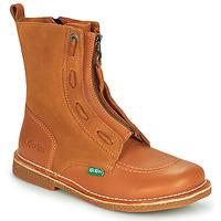 Shoes Women Mid boots Kickers MEETICKROCK Camel