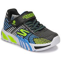 Shoes Boy Low top trainers Skechers FLEX-GLOW ELITE Black / Blue / Led