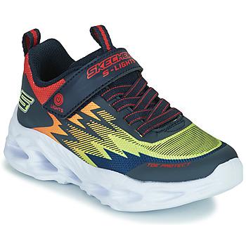 Shoes Boy Low top trainers Skechers VORTEX-FLASH Blue / Orange