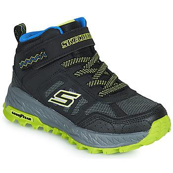 Shoes Boy Hi top trainers Skechers FUSE TREAD Black / Yellow