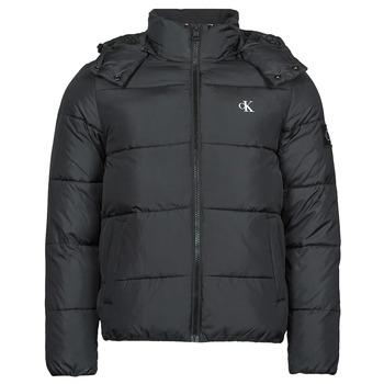 Clothing Men Duffel coats Calvin Klein Jeans ESSENTIALS NON DOWN JACKET Black