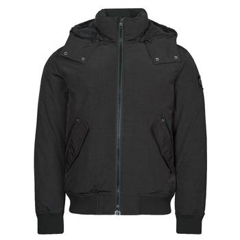 Clothing Men Parkas Calvin Klein Jeans SHERPA LINED SHORT JACKET Black