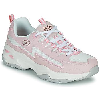 Shoes Women Low top trainers Skechers  Pink / Black