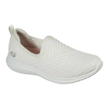 Shoes Women Slip-ons Skechers ULTRA FLEX COOL STREAK White