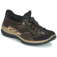 Shoes Women Low top trainers Rieker ALINDA Bronze / Black