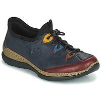 Shoes Women Derby Shoes Rieker ENCORRA Blue / Red / Yellow