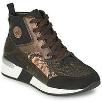 Shoes Women Hi top trainers Rieker MANKA Black / Brown