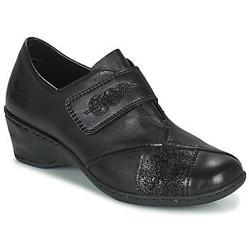 Shoes Women Loafers Rieker DEVENIRA Black