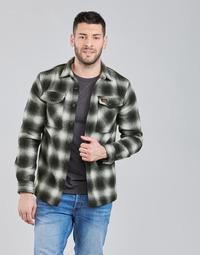 Clothing Men Jackets Superdry Wool Miller Overshirt Black