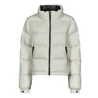 Clothing Women Duffel coats Superdry ALPINE LUXE DOWN JACKET White