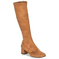 Shoes Women High boots Unisa LARTI Camel