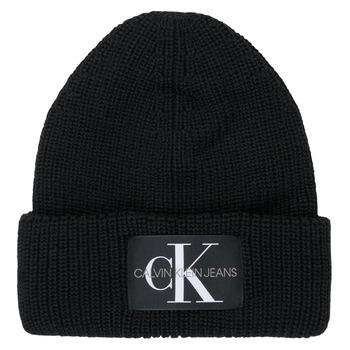 Clothes accessories Women Hats / Beanies / Bobble hats Calvin Klein Jeans MONOGRAM BEANIE WL Black