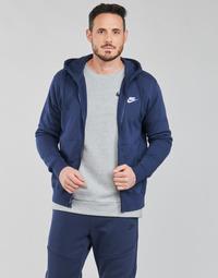 Clothing Men Sweaters Nike NIKE SPORTSWEAR CLUB FLEECE Blue / Marine / White