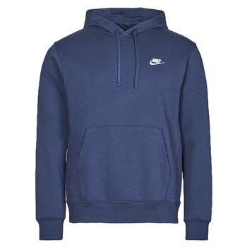 Clothing Men Sweaters Nike NIKE SPORTSWEAR CLUB FLEECE Marine / White