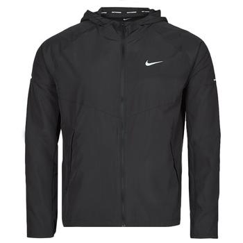 Clothing Men Macs Nike M NK RPL MILER JKT Black / Silver