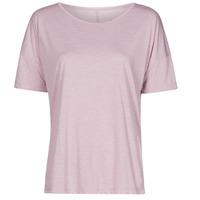 Clothing Women Short-sleeved t-shirts Nike NIKE YOGA Purple