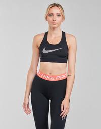 Clothing Women Sport bras Nike W NK DF SWSH ICNCLSH GX BRA Black / White