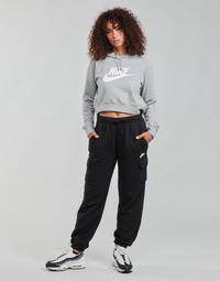 Clothing Women Tracksuit bottoms Nike W NSW ESSNTL FLC MR CRGO PNT Black / White