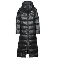 Clothing Women Duffel coats Nike W NSW TF CITY HD PARKA Black / White