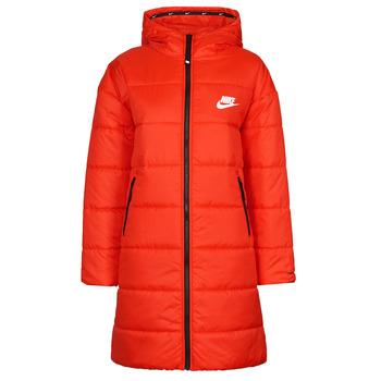 Clothing Women Duffel coats Nike W NSW TF RPL CLASSIC HD PARKA Red / Black / White