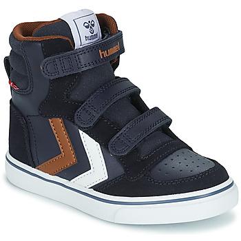 Shoes Children Hi top trainers Hummel STADIL PRO JR Blue / Brown