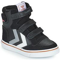 Shoes Children Hi top trainers Hummel STADIL PRO JR Black / Grey