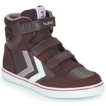 Shoes Girl Hi top trainers Hummel STADIL PRO JR Bordeaux
