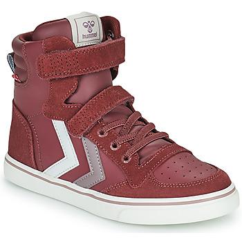 Shoes Girl Hi top trainers Hummel SLIMMER STADIL JR Purple