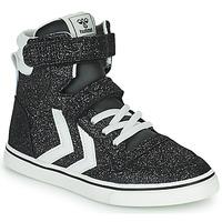 Shoes Children Hi top trainers Hummel SLIMMER STADIL GLITTER JR Silver