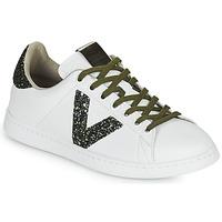Shoes Women Low top trainers Victoria TENIS PIEL White / Kaki