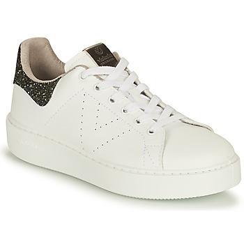 Shoes Women Low top trainers Victoria UTOPIA VEGANA GLITTER White / Black