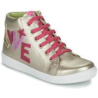 Shoes Girl Hi top trainers Agatha Ruiz de la Prada FLOW Beige / Pink