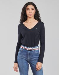 Clothing Women Long sleeved tee-shirts Tommy Hilfiger REGULAR CLASSIC V-NK TOP LS Marine