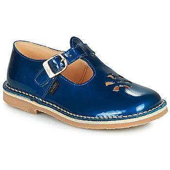 Shoes Girl Sandals Aster DINGO Blue / Varnish