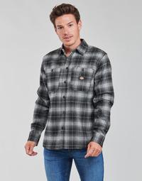 Clothing Men Long-sleeved shirts Dickies EVANSVILLE LS Black