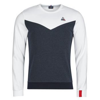 Clothing Men Sweaters Le Coq Sportif SAISON 1 CREW SWEAT N 1 Marine / White