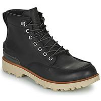 Shoes Men Mid boots Sorel CARIBOU MOC WP Black