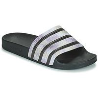 Shoes Women Sliders adidas Originals ADILETTE Black / Silver
