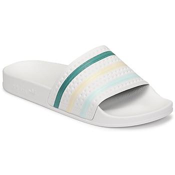 Shoes Women Sliders adidas Originals ADILETTE White / Green / Pink