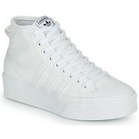 Shoes Women Hi top trainers adidas Originals NIZZA PLATFORM MID White