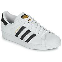 Shoes Low top trainers adidas Originals SUPERSTAR VEGAN White / Black