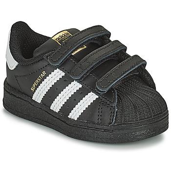 Shoes Children Low top trainers adidas Originals SUPERSTAR CF I Black / White