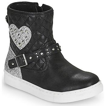 Shoes Girl Mid boots Primigi B&G LUX Black / Silver