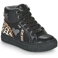 Shoes Girl Hi top trainers Primigi GIRL ALPHA Black / Leopard