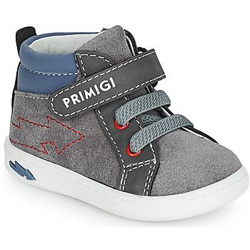 Shoes Boy Hi top trainers Primigi BABY LIKE Grey / Blue