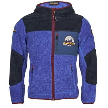 Clothing Men Fleeces Napapijri YUPIK Marine / Blue