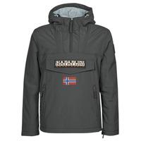 Clothing Men Parkas Napapijri RAINFOREST POCKET Grey / Dark