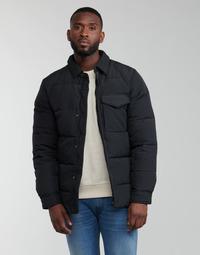 Clothing Men Duffel coats Scotch & Soda WATER-REPELLENT SHIRT Black