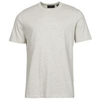 Clothing Men Short-sleeved t-shirts Scotch & Soda GRAPHIC LOGO Grey